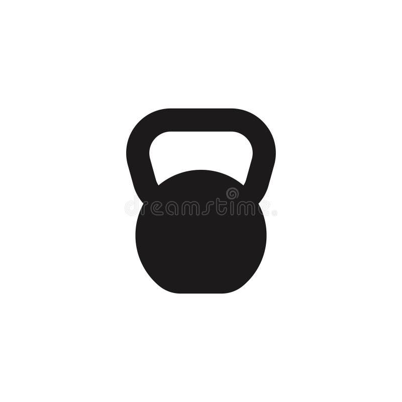 Ícone do equipamento de esporte da chaleira do peso ilustração do vetor