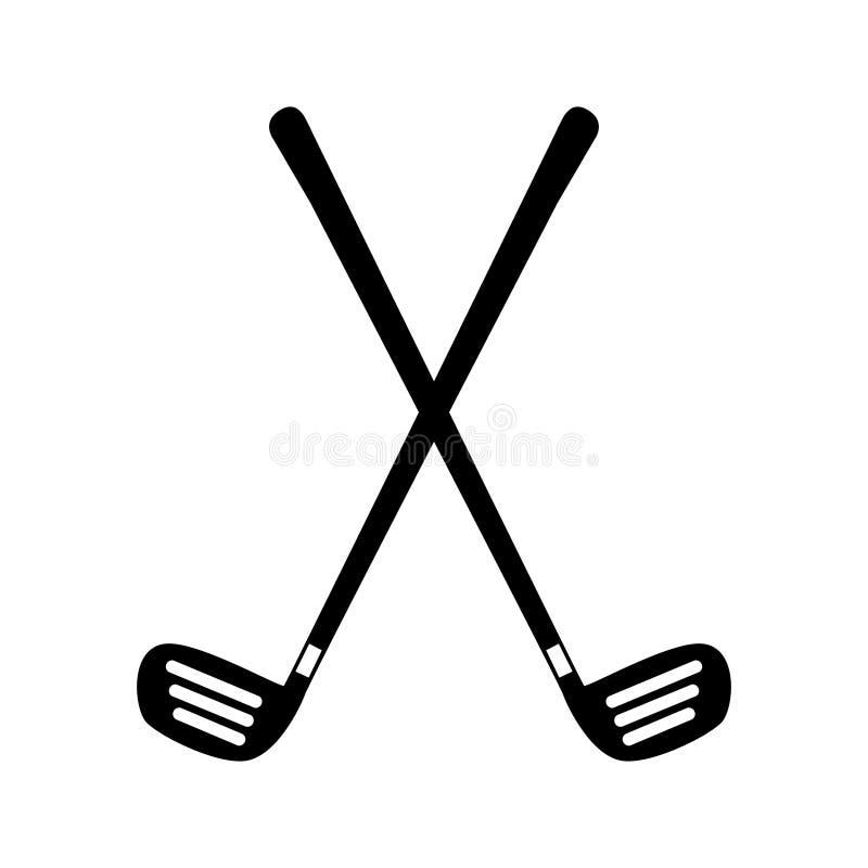 Ícone do equipamento dos clubes de golfe ilustração do vetor