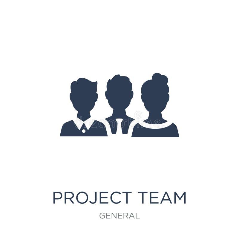 ícone do equipe de projeto Ícone liso na moda do equipe de projeto do vetor no branco ilustração do vetor