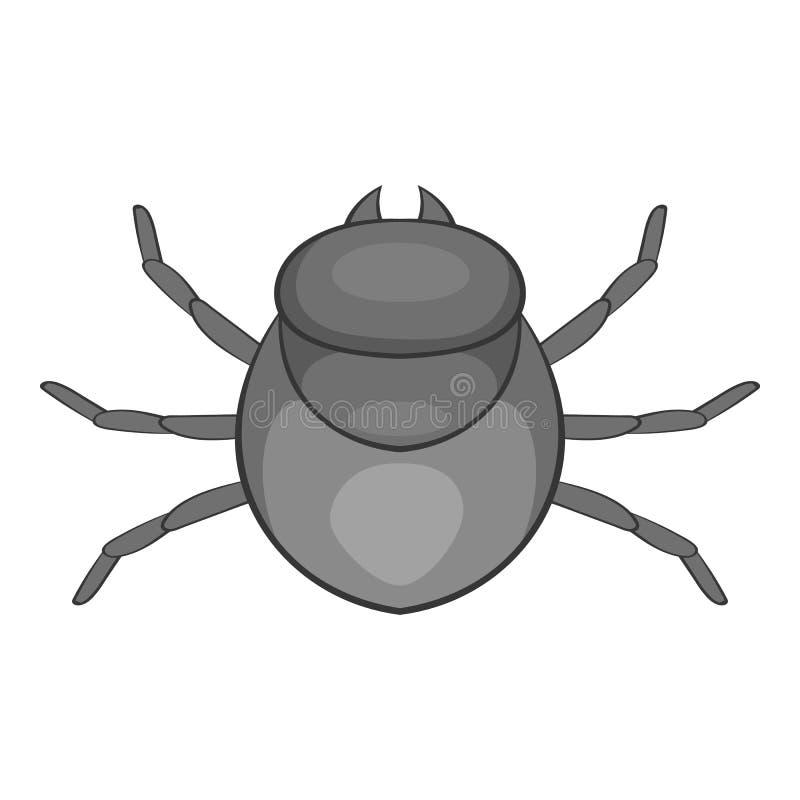 Ícone do erro da colheita, estilo dos desenhos animados ilustração do vetor