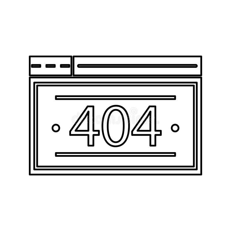 ícone do erro de servidor Elemento da segurança do cyber para o conceito e o ícone móveis dos apps da Web Linha fina ícone para o ilustração do vetor