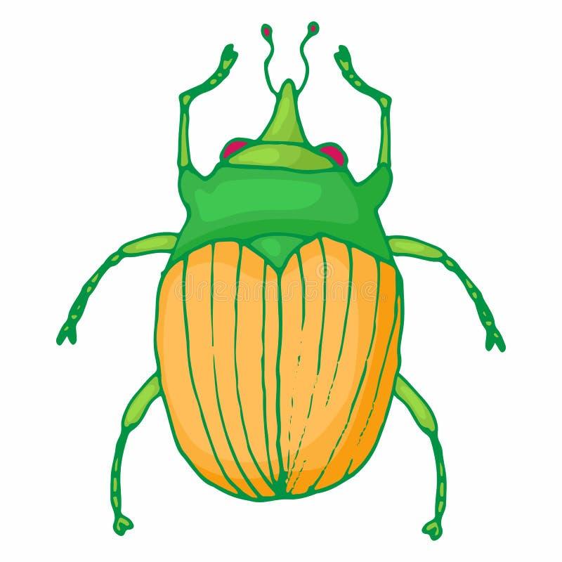 Ícone do erro do inseto, estilo dos desenhos animados ilustração stock