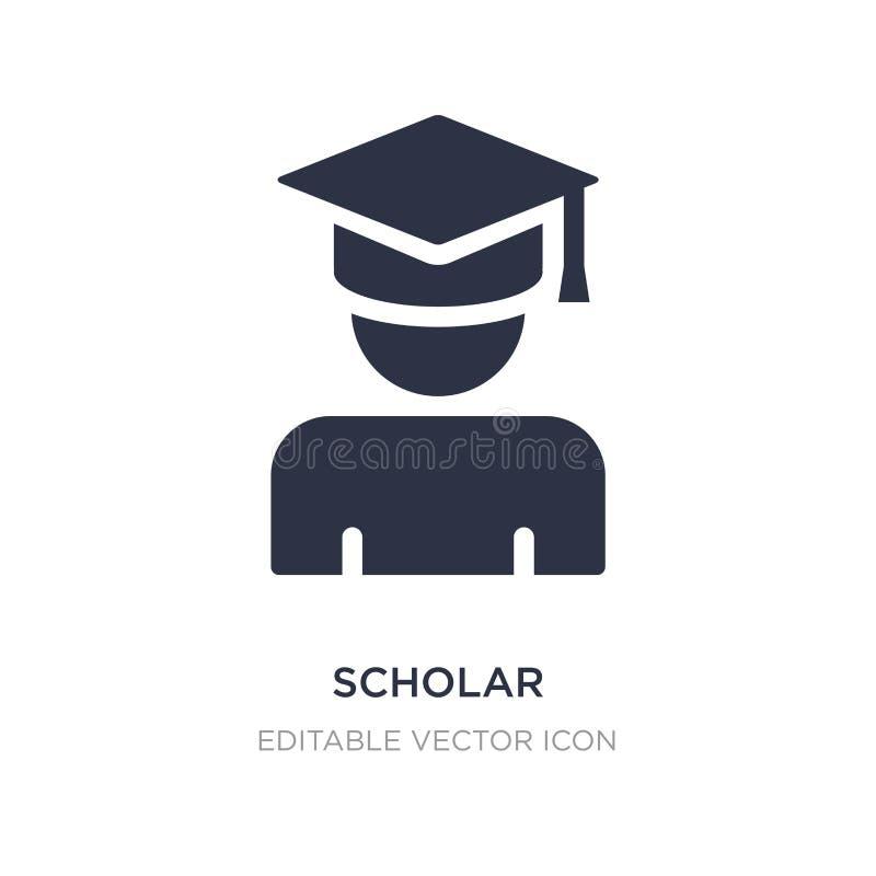 ícone do erudito no fundo branco Ilustração simples do elemento do conceito da educação ilustração stock