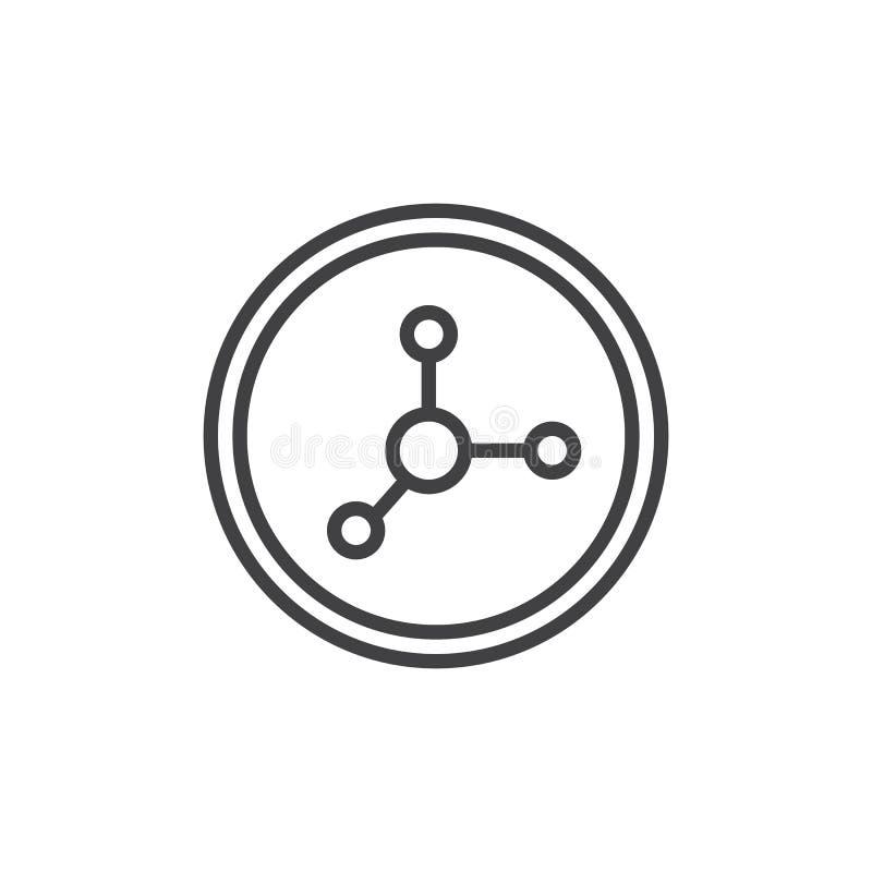 Ícone do esboço do alimento do nitrato ilustração do vetor