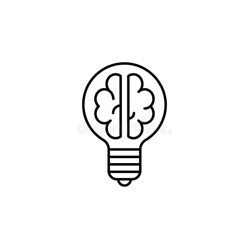 Ícone do esboço do cérebro da ampola da robótica Os sinais e os símbolos podem ser usados para a Web, logotipo, app móvel, UI, UX ilustração do vetor