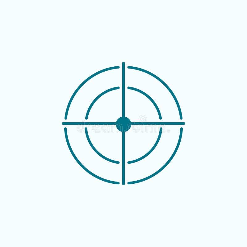 ícone do esboço do campo do alvo ilustração stock