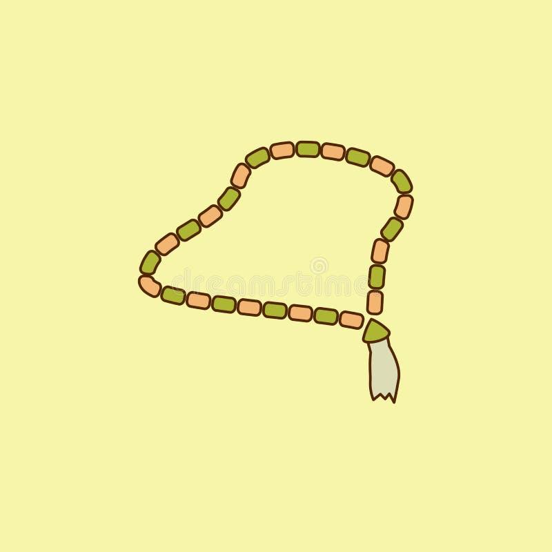 ícone do esboço do campo colorido dos grânulos Elemento do ícone árabe da cultura para apps móveis do conceito e da Web O ícone d ilustração royalty free