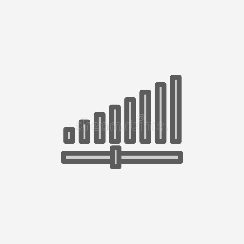 ícone do esboço do campo da força de sinal Elemento do ícone simples de 2 cores Linha fina ícone para o projeto do Web site e o d ilustração royalty free