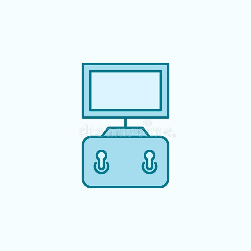 ícone do esboço do campo do manche ilustração stock