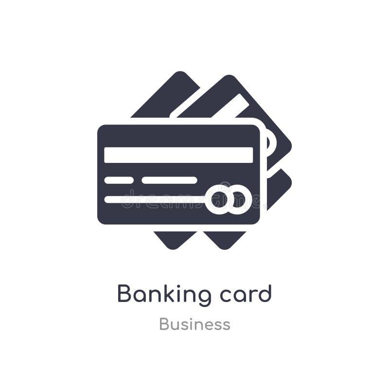 ícone do esboço do cartão de operação bancária linha isolada ilustra??o do vetor da cole??o do neg?cio ícone fino editável do car ilustração do vetor