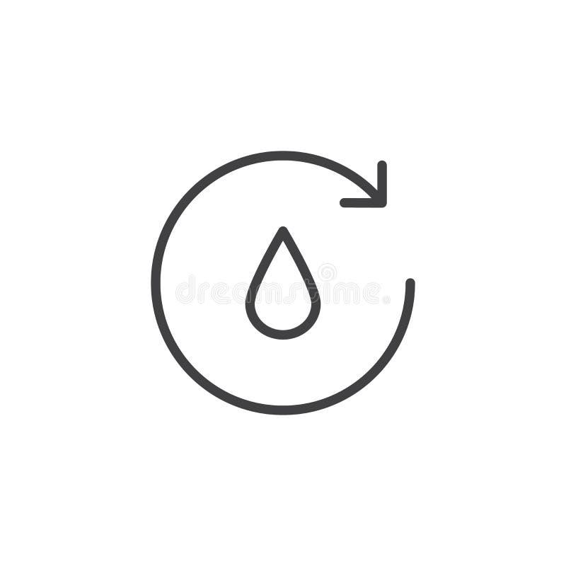 Ícone do esboço do ciclo da água ilustração do vetor