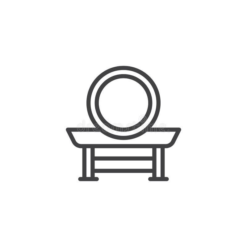 Ícone do esboço do cilindro de Taiko ilustração royalty free