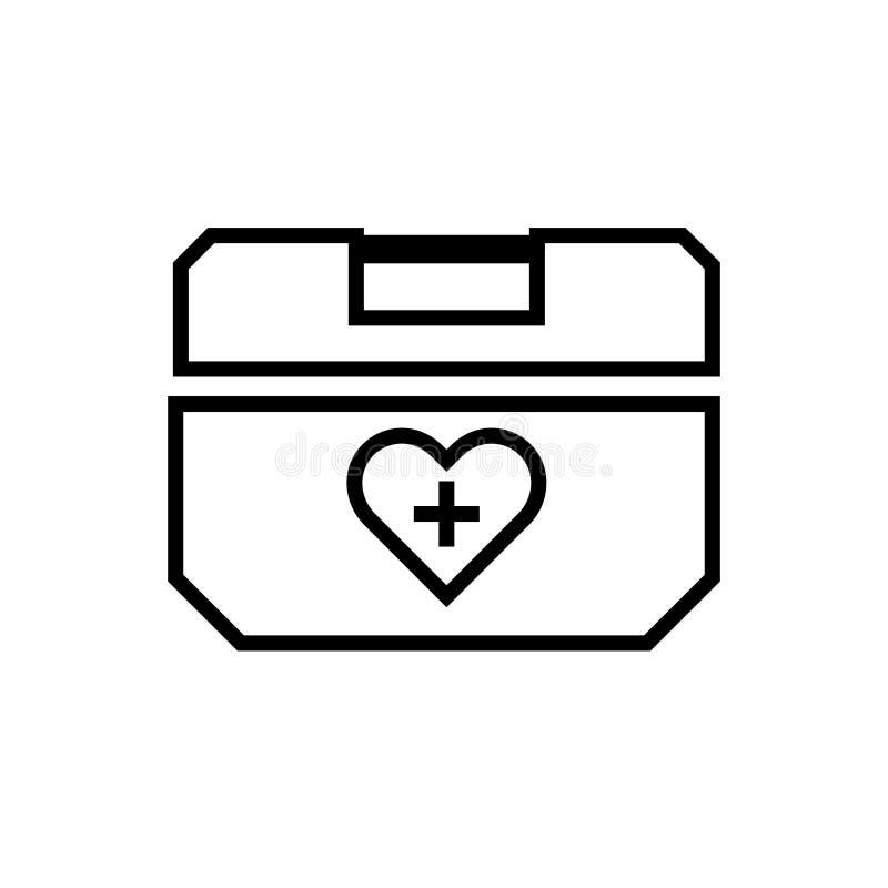 Ícone do esboço da caixa do refrigerador do órgão humano ilustração do vetor