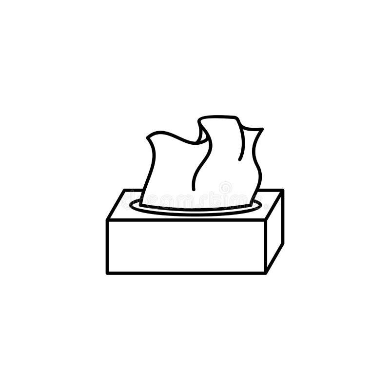 Ícone do esboço da caixa do tecido ilustração royalty free