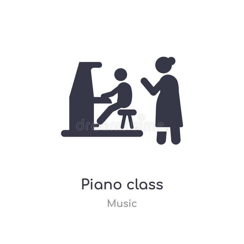 ícone do esboço da classe do piano linha isolada ilustra??o do vetor da cole??o da m?sica ícone fino editável da classe do piano  ilustração stock