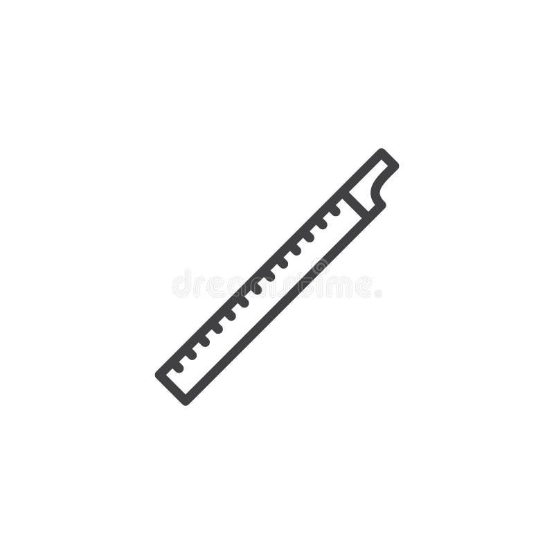 Ícone do esboço da flauta ilustração stock