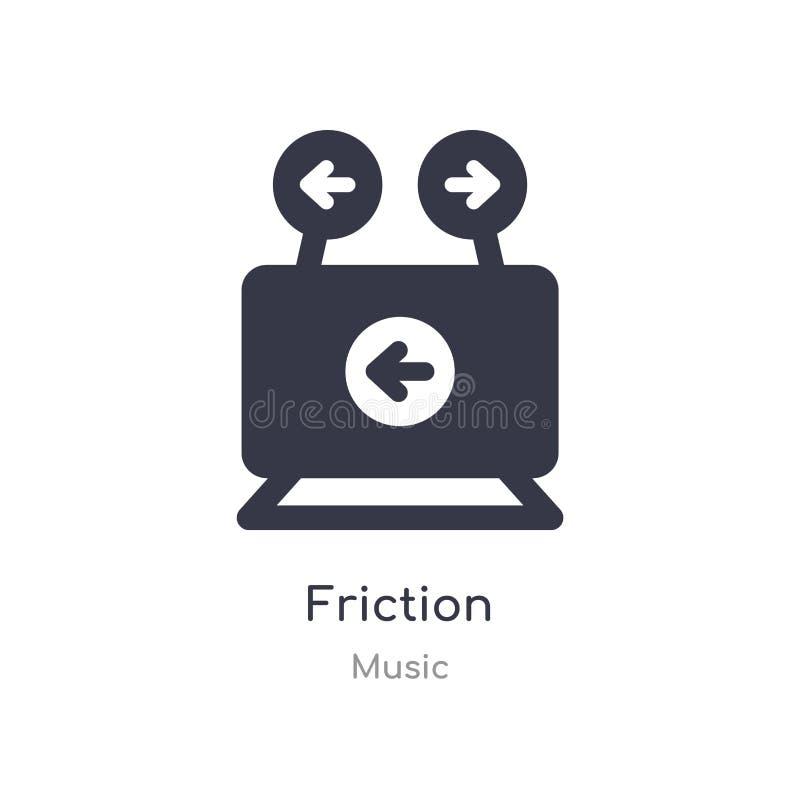 ícone do esboço da fricção linha isolada ilustra??o do vetor da cole??o da m?sica ícone fino editável da fricção do curso no bran ilustração do vetor