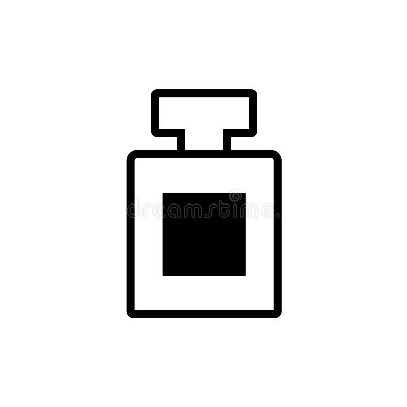 Ícone do esboço da garrafa de perfume para a loja Vetor de compra eps10 do sinal do perfume do sinal ilustração do vetor
