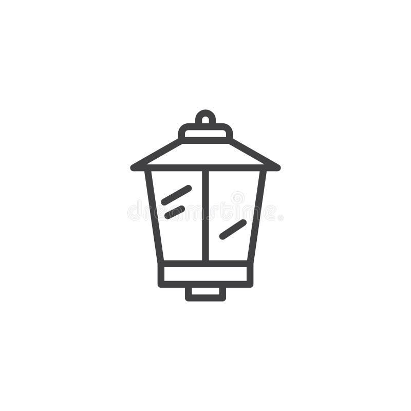 Ícone do esboço da lâmpada de rua ilustração royalty free