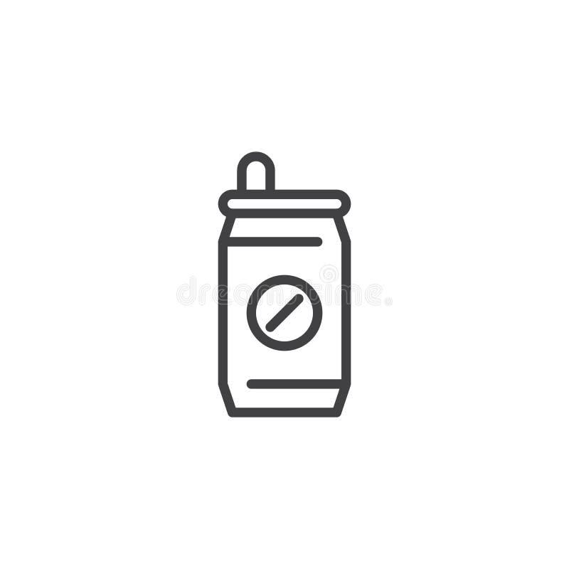 Ícone do esboço da lata de soda ilustração do vetor
