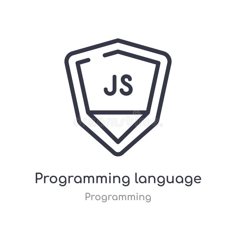 ícone do esboço da linguagem de programação linha isolada ilustra??o do vetor da cole??o de programa??o programação fina editável ilustração do vetor