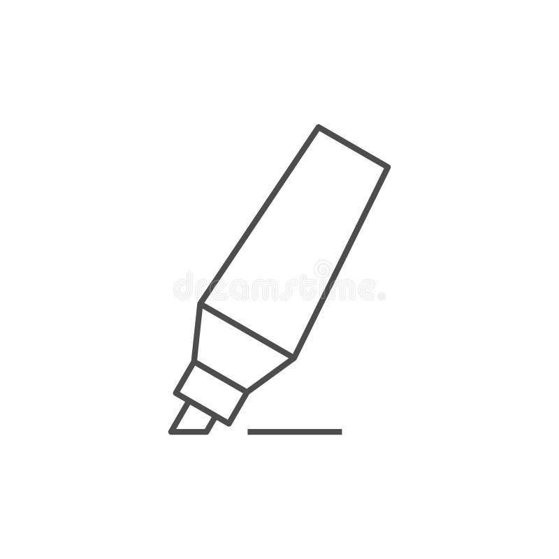 Ícone do esboço da pena de marcador ilustração do vetor