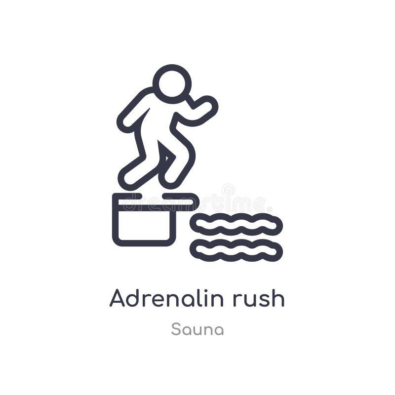 ícone do esboço da precipitação da adrenalina linha isolada ilustra??o do vetor da cole??o da sauna ícone fino editável da precip ilustração royalty free