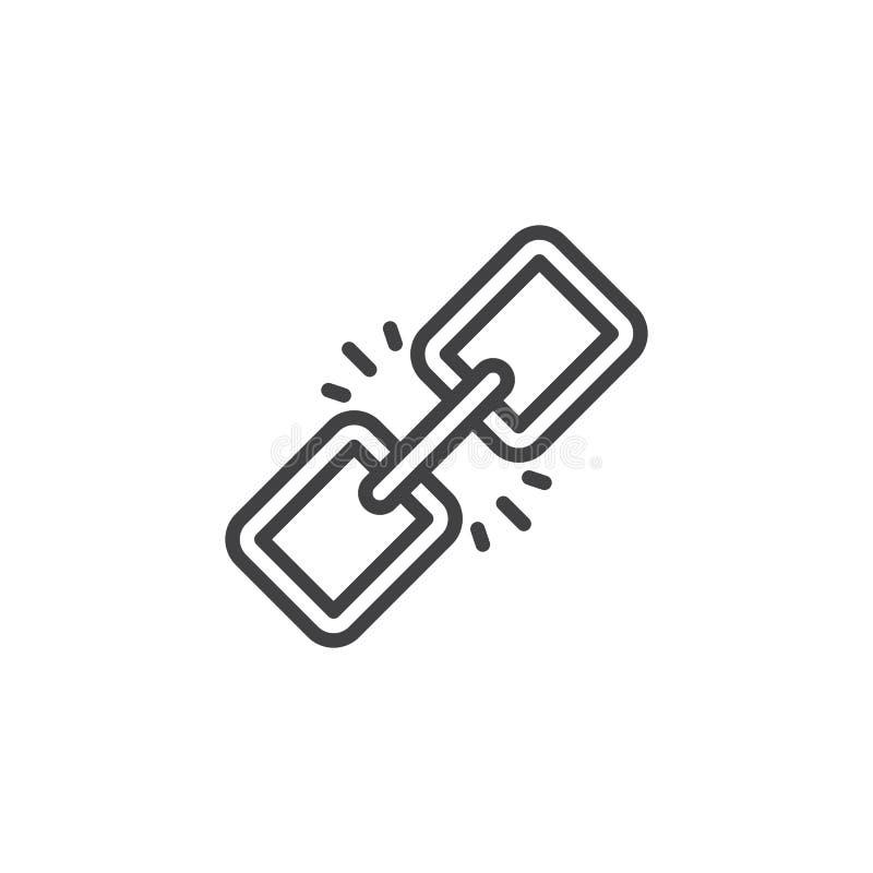 Ícone do esboço da relação ilustração stock