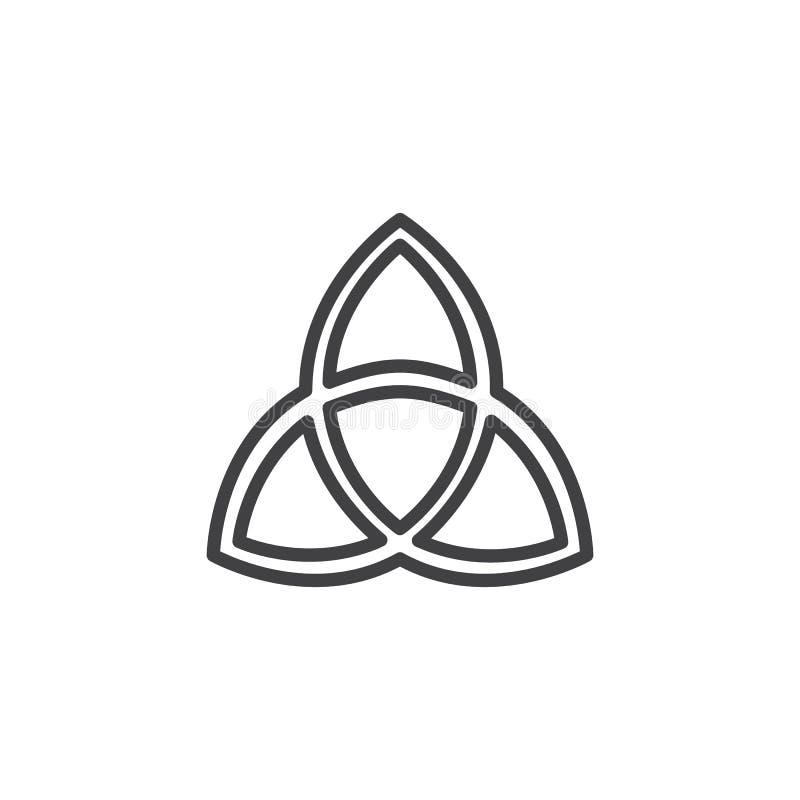 Ícone do esboço da trindade santamente ilustração royalty free