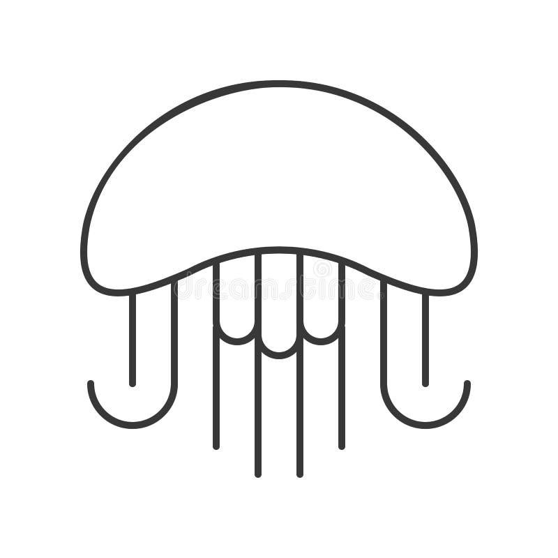 Ícone do esboço das medusas no fundo branco ilustração royalty free