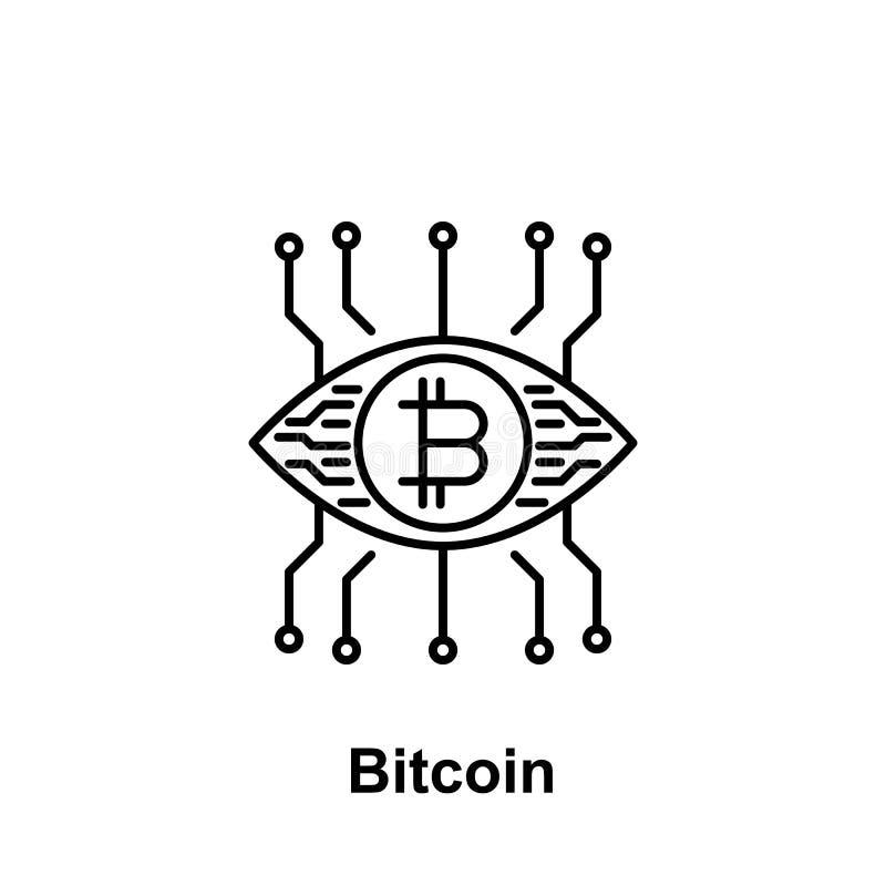 Ícone do esboço de Bitcoin Elemento de ícones da ilustração do bitcoin Os sinais e os símbolos podem ser usados para a Web, logot ilustração stock