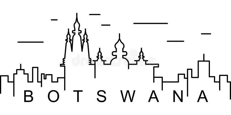 Ícone do esboço de Botswana Pode ser usado para a Web, logotipo, app móvel, UI, UX ilustração do vetor