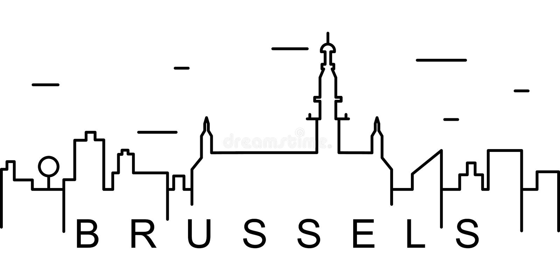 Ícone do esboço de Bruxelas Pode ser usado para a Web, logotipo, app móvel, UI, UX ilustração do vetor
