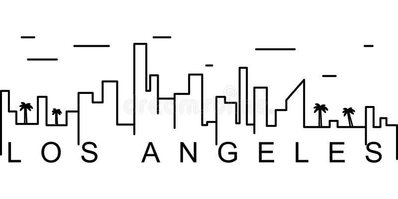 Ícone do esboço de Los Angeles Pode ser usado para a Web, logotipo, app móvel, UI, UX ilustração stock