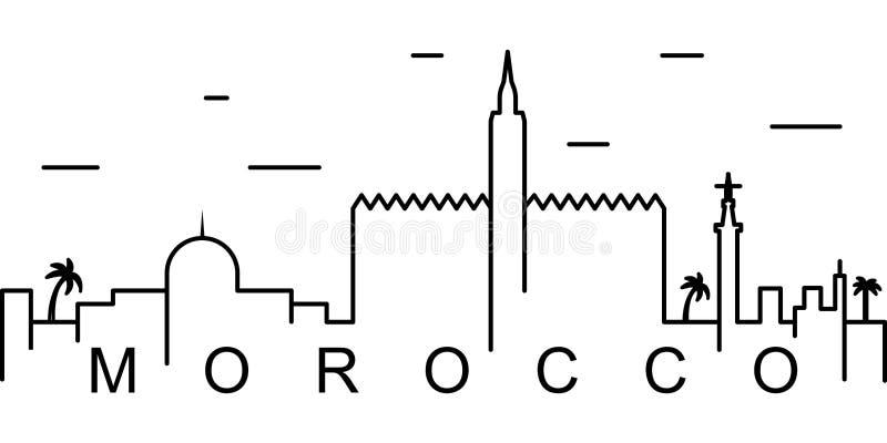 Ícone do esboço de Marrocos Pode ser usado para a Web, logotipo, app móvel, UI, UX ilustração do vetor