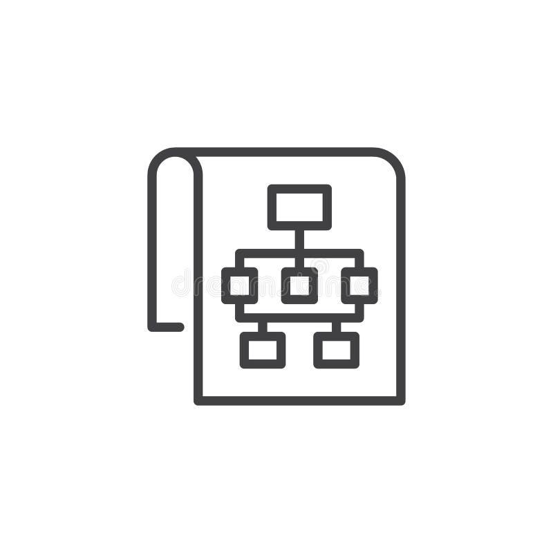 Ícone do esboço de Sitemap ilustração royalty free