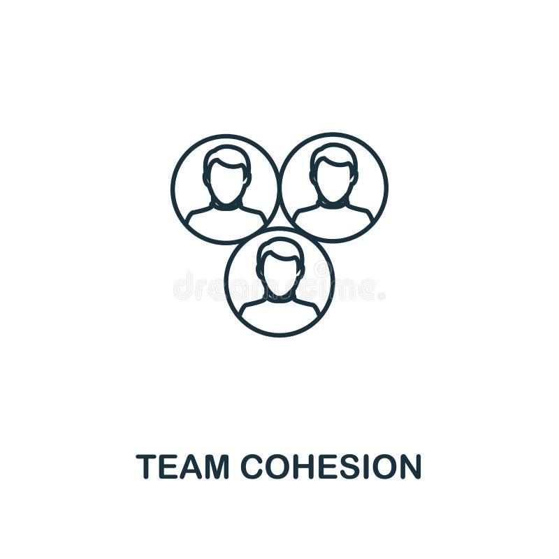 Ícone do esboço de Team Cohesion Projeto superior do estilo da coleção dos ícones da gestão do projeto Ícone simples da coesão da ilustração stock