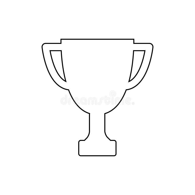 Ícone do esboço do copo do troféu do vencedor Ilustração linear do vetor ilustração stock