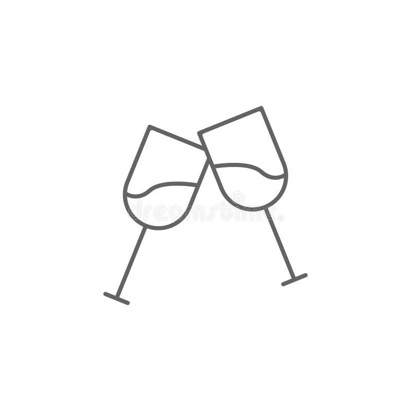 Ícone do esboço dos EUA dos cálices dos elogios Os sinais e os s?mbolos podem ser usados para a Web, logotipo, app m?vel, UI, UX ilustração stock