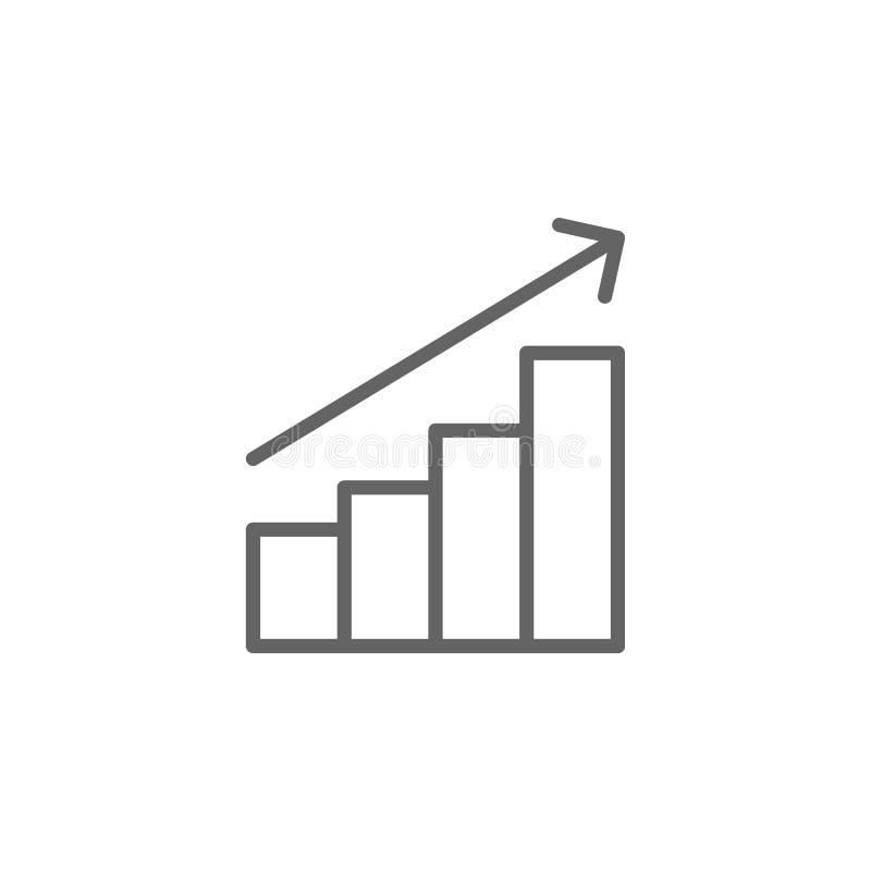 Ícone do esboço dos lucros Elementos da linha ?cone da ilustra??o do neg?cio Os sinais e os s?mbolos podem ser usados para a Web, ilustração do vetor