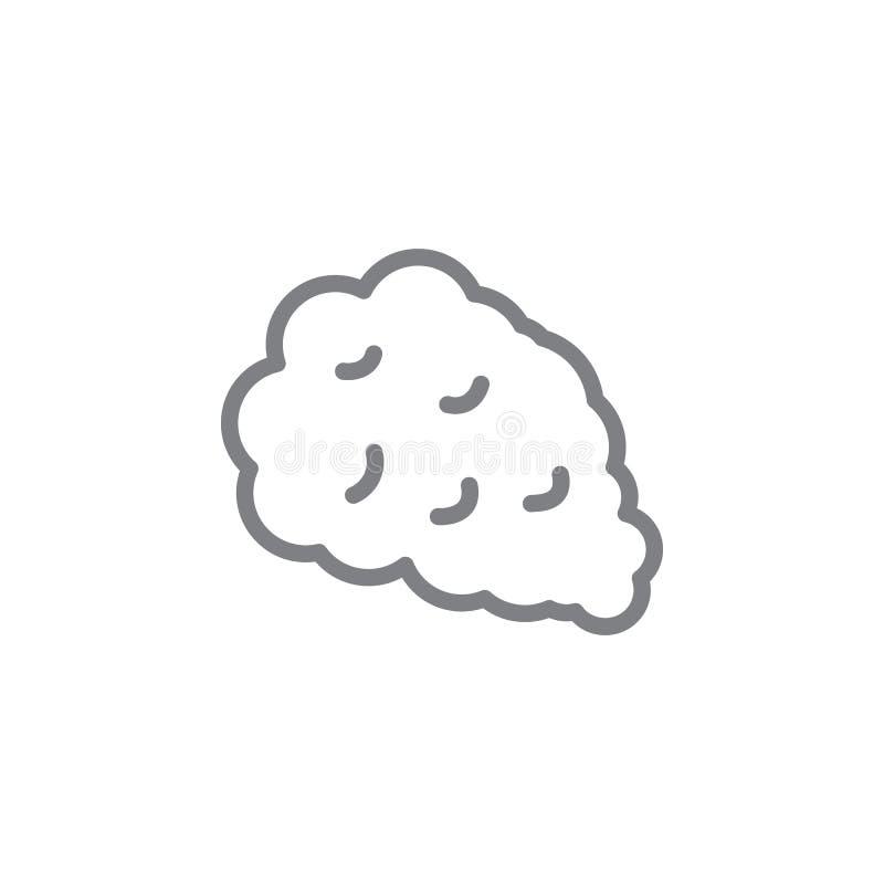 Ícone do esboço do fumo Elementos do ?cone de fumo da ilustra??o das atividades Os sinais e os s?mbolos podem ser usados para a W ilustração stock