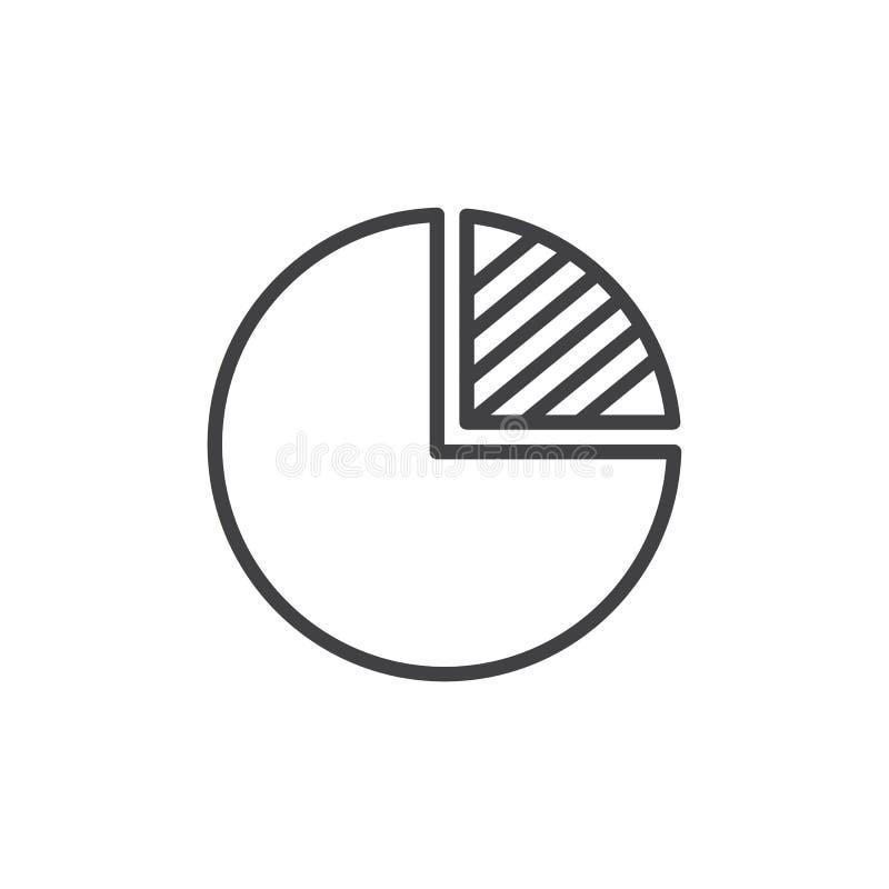 Ícone do esboço do gráfico do pi ilustração do vetor