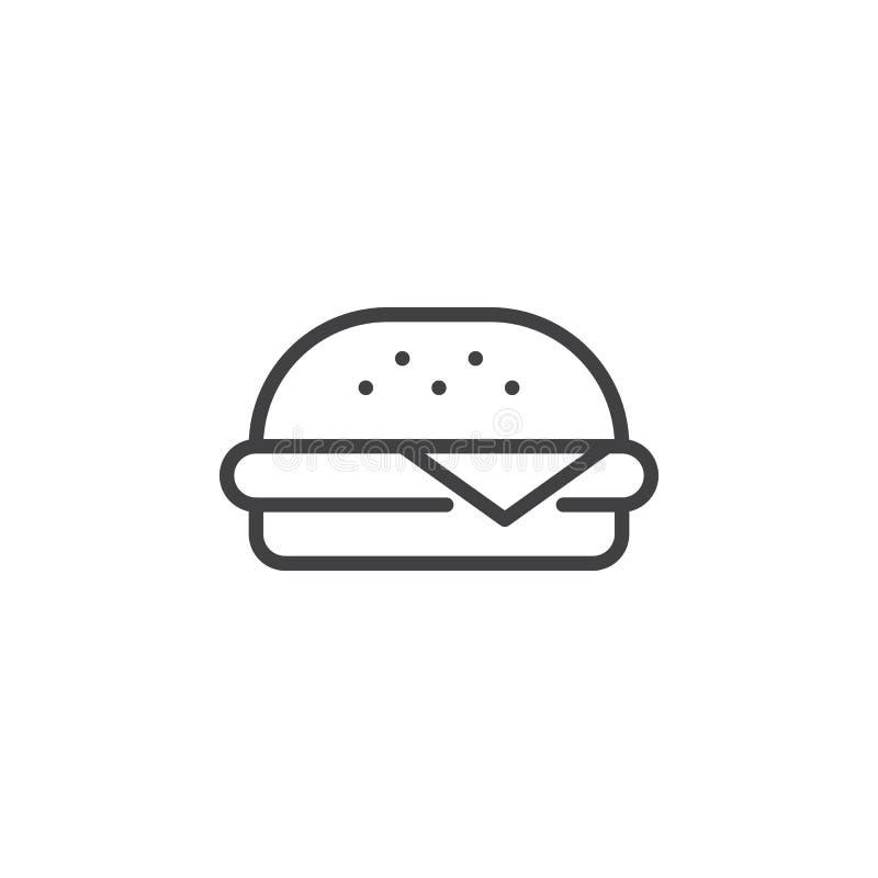 Ícone do esboço do hamburguer ilustração royalty free