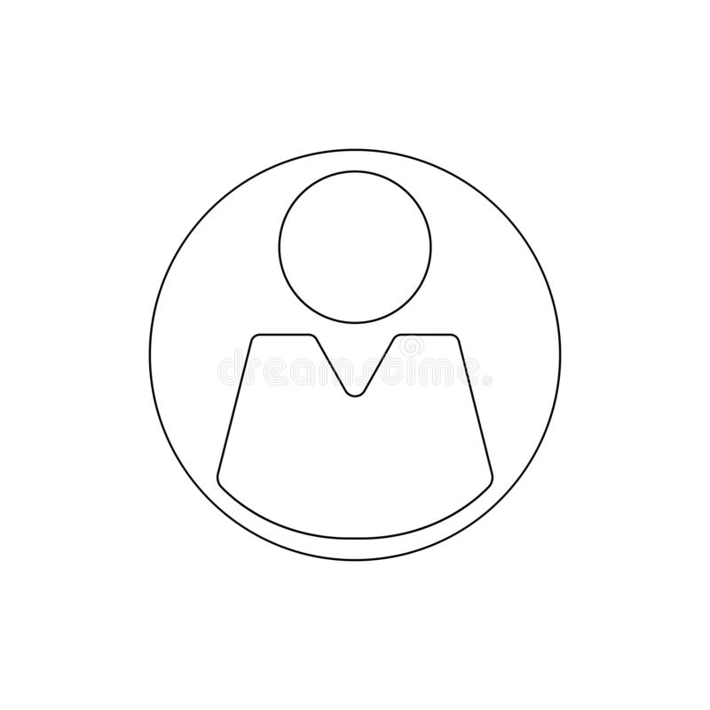 Ícone do esboço do homem do usuário Os sinais e os s?mbolos podem ser usados para a Web, logotipo, app m?vel, UI, UX ilustração stock