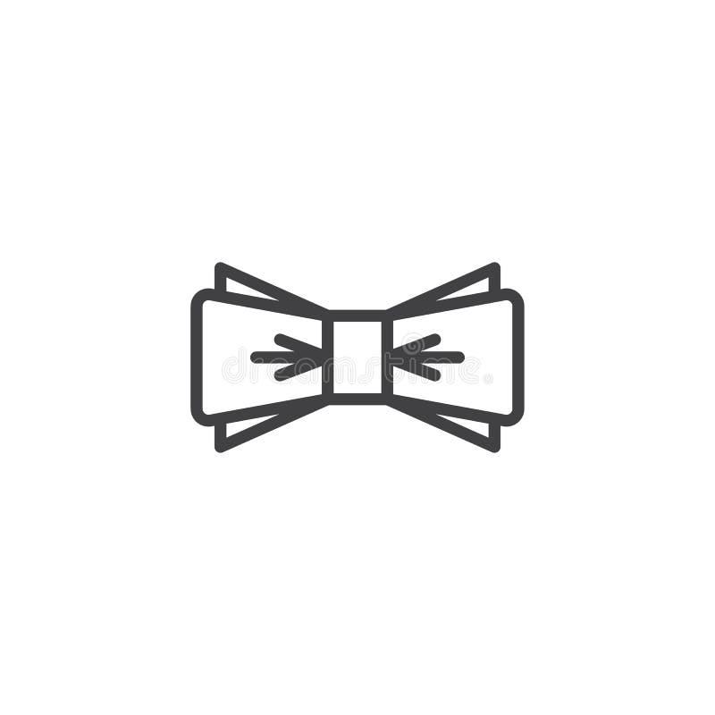Ícone do esboço do laço ilustração stock