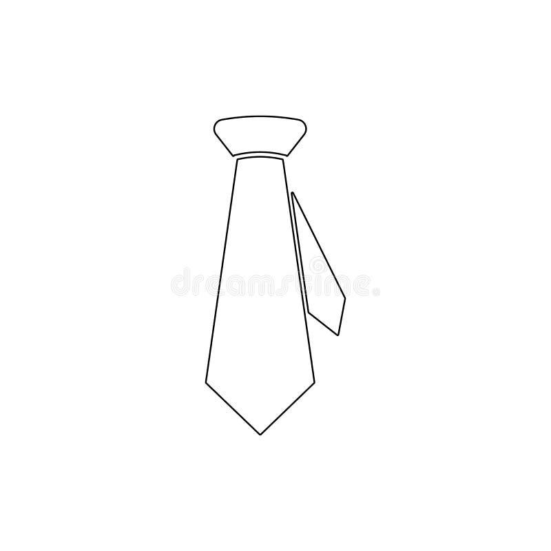 Ícone do esboço do laço de vestido do negócio Os sinais e os s?mbolos podem ser usados para a Web, logotipo, app m?vel, UI, UX ilustração stock