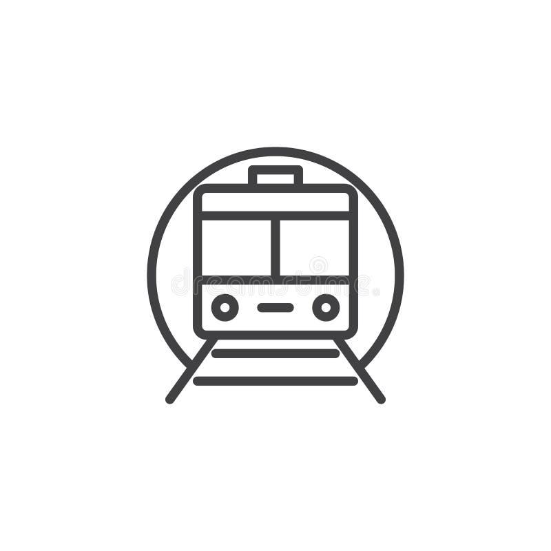 Ícone do esboço do metro do trem ilustração do vetor