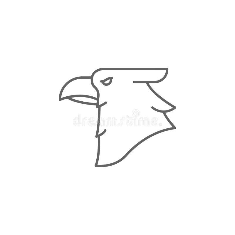 ícone do esboço do pássaro da águia Elementos do ícone da ilustração do Dia da Independência r ilustração royalty free