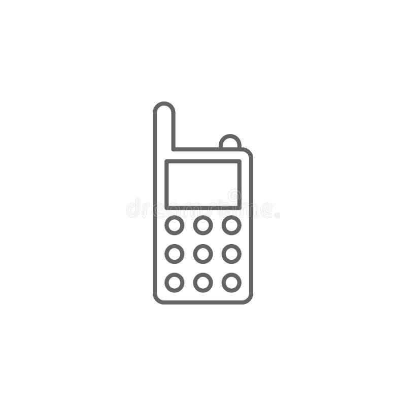 Ícone do esboço do rádio de justiça Elementos da linha ícone da ilustração da lei Os sinais, os símbolos e s podem ser usados par ilustração stock