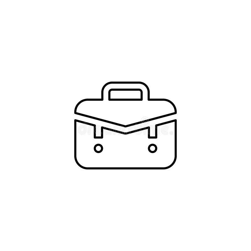 Ícone do esboço do saco do escritório ilustração royalty free